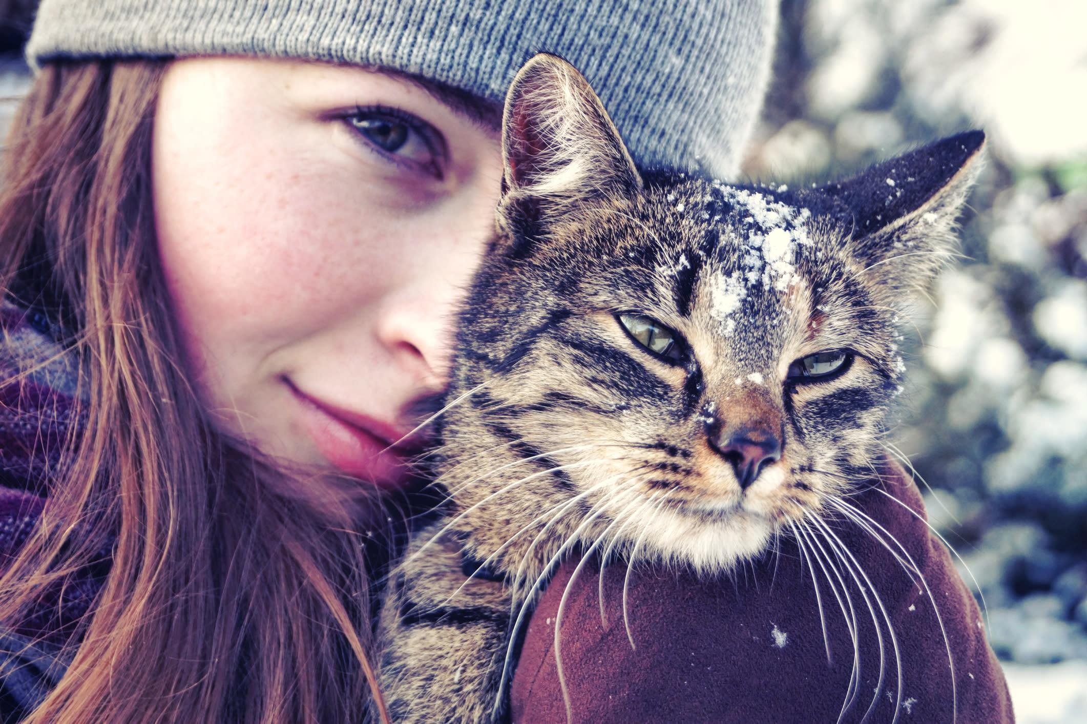 Verrückte Katzenfrau