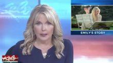 Una presentadora de EEUU informa de la muerte de su hija en directo