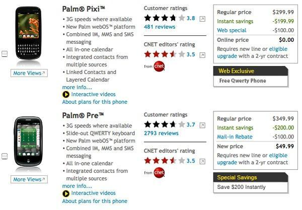 Sprint lowers Pre and Pixi pricing at long last