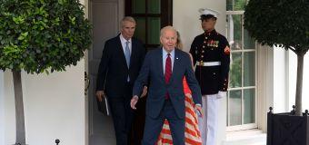 Biden makes surprise appearance: We have a deal