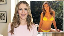 Elizabeth Hurley, 53, stuns in a yellow bikini: 'The most beautiful woman in the world!'
