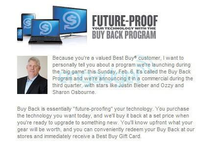 Best Buy's Buy Back Program to be made official during the Super Bowl... by Justin Bieber and Ozzy Osbourne
