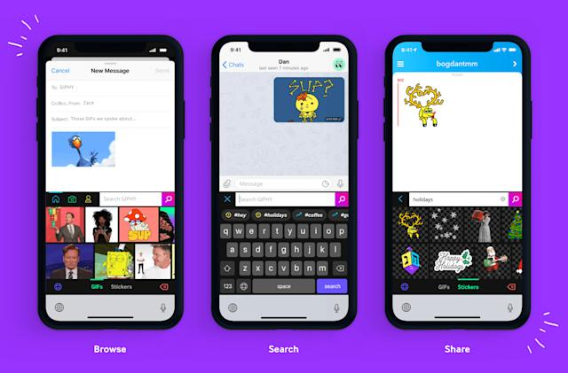 Giphy offers easy access to GIFs with iOS keyboard extension