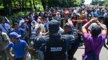 Pence points to leftist groups as caravan organizers