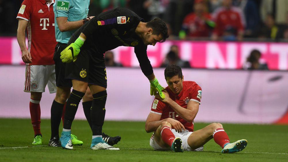Lewandowski, baja ante el Real Madrid