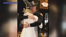 Police step in for bride's father-daughter dance in place of dad who died chasing a suspect