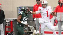 Quarterback Justin Fields, shot put national champion Adelaide Aquilla named Ohio State Athletes of the Year