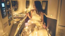 Instagram star mocked for taking fairy lights on plane