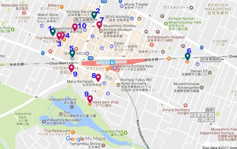 吉祥寺周圍地圖