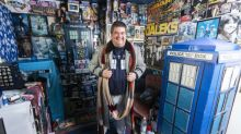 A Doctor Who superfan has laid claim to having the world's largest collection of the show's memorabilia
