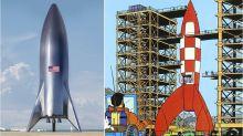El futuro del espacio se parece a los cómics de Tintín