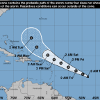 'Disorganized' depression still forecast to form into Tropical Storm Josephine soon