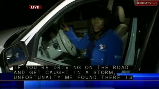 What to do if you're stuck on the road in a storm