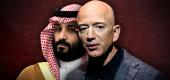 Mohammed bin Salman and Jeff Bezos. (Photo illustration: Yahoo News; photos: AP (2), Getty Images)