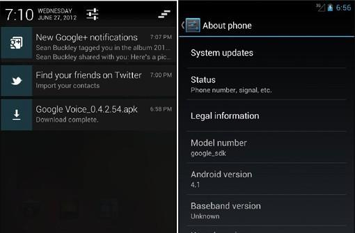 Android 4.1 SDK hands-on