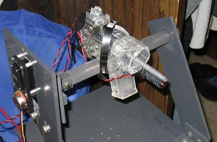 Autonomous, laser-guided turret takes aim