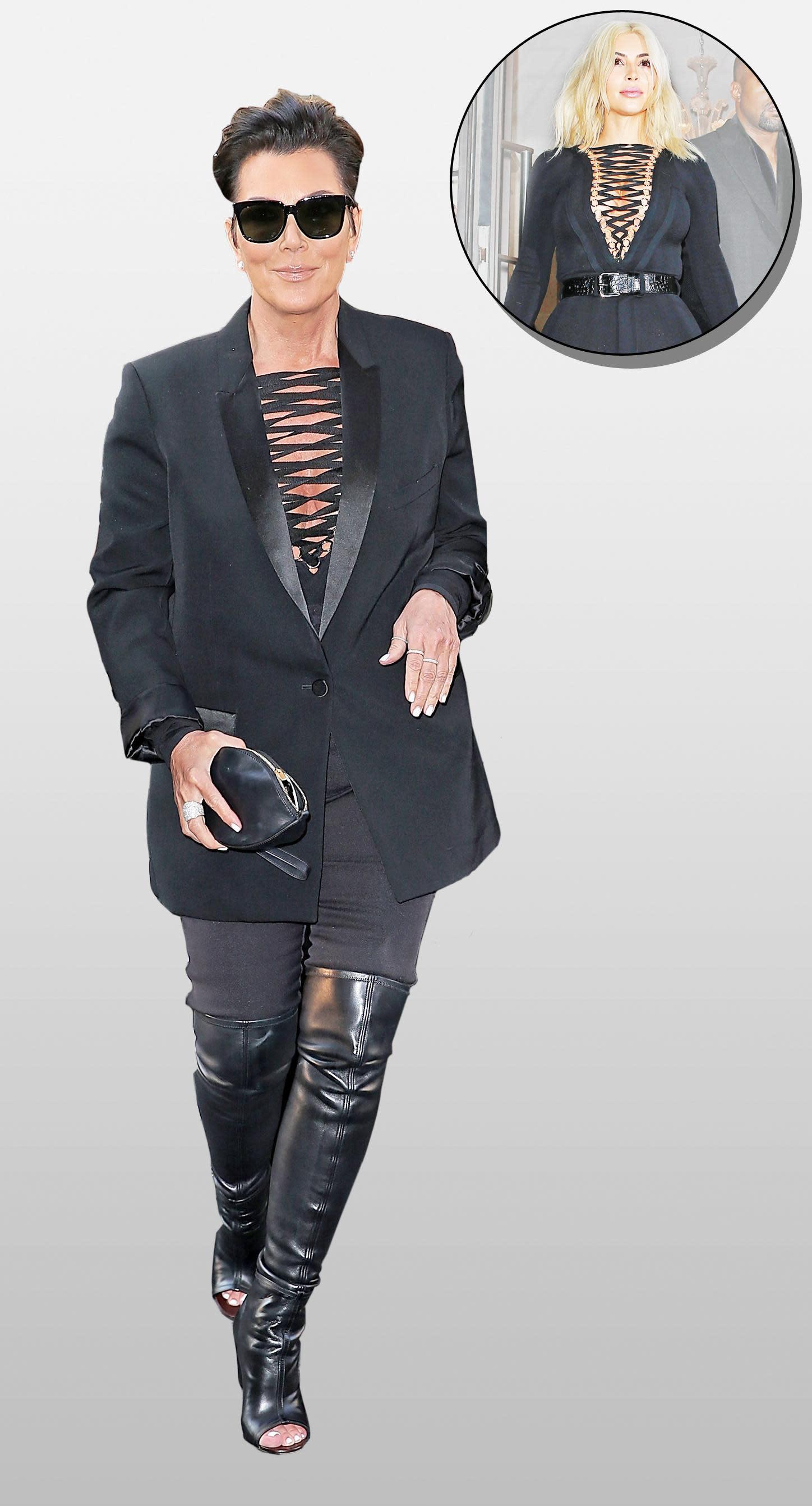 Kris Jenner Stole Kim Kardashian 39 S Sexy Givenchy Ensemble
