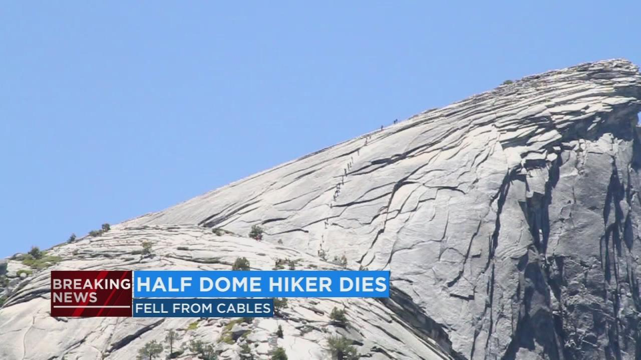Uu A 2018 >> Hiker dies after slipping and falling off the Half Dome cables in Yosemite National Park [Video]