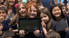 Roslyn students in a frenzy over high-tech surprise