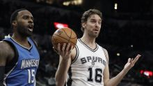 Spurs C Gasol breaks finger during warmups, out indefinitely
