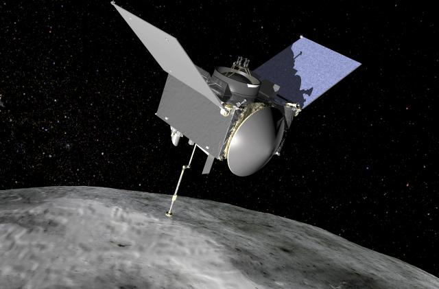 NASA shares first images from OSIRIS-REx's touchdown on Bennu