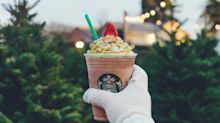 How many calories are in the new Starbucks Christmas Tree Frappuccino?
