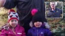 Four-year-old twins free themselves from crash which killed father