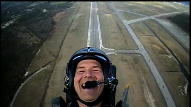 Dan Shaffer takes a ride with the Blue Angels in March 2010