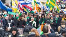 St Patrick's Day Parade 2018: Londoners transform capital into sea of green as thousands descend on capital for annual event