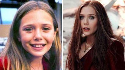緋紅女巫細細個就係靚女!《復仇者聯盟3》演員兒時照片對比