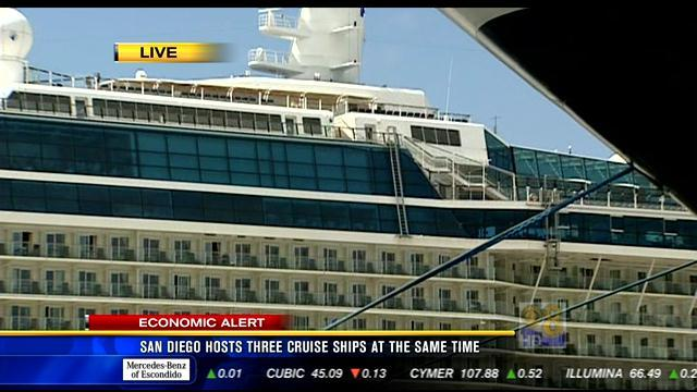 San Diego hosts three cruise ships at the same time