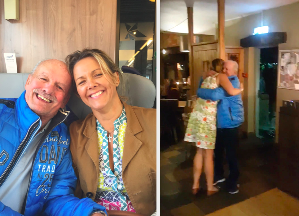 Siegfried 'Siggi' Wahl had an emotional meeting with stem cell donator Jackie Wray (Caters)