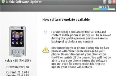 New Nokia N95-1 firmware v30 released, other N95 sets have to wait, again