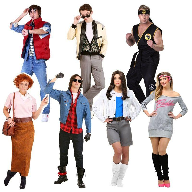 """<p>$30+</p><p><a class=""""link rapid-noclick-resp"""" href=""""https://go.redirectingat.com?id=74968X1596630&url=https%3A%2F%2Fwww.halloweencostumes.com%2Fadult-80s-costumes.html&sref=http%3A%2F%2Fwww.womansday.com%2Flife%2Fg3083%2Fbest-group-halloween-costumes%2F"""" rel=""""nofollow noopener"""" target=""""_blank"""" data-ylk=""""slk:SHOP NOW"""">SHOP NOW </a></p><p>Here's a blast from the past. Whether you're a fan of the 80s, or just grew up in them, dress up as your favorite classic characters from beloved 80s films like The Breakfast Club, Back to the Future, Karate Kid, Flashdance, and Ferris Bueller's Day Off.</p>"""