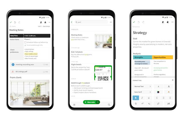 Evernote's major redesign is rolling out on Android