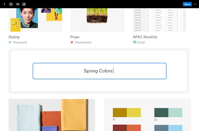 Dropbox's Showcase presentation tools are faster and more flexible