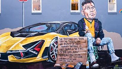'Property portfolio is most sacred': Mural mocks Folau