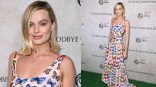 Margot Robbie stuns in Versace butterfly dress