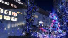 聖誕台場高達玩溜冰 獨角獸高達正式變身聖誕樹?