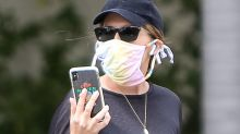 Pregnant Katherine Schwarzenegger  Teams Her Sheer Tee & High-Waisted Leggings With These Celeb-Favorite Sneakers