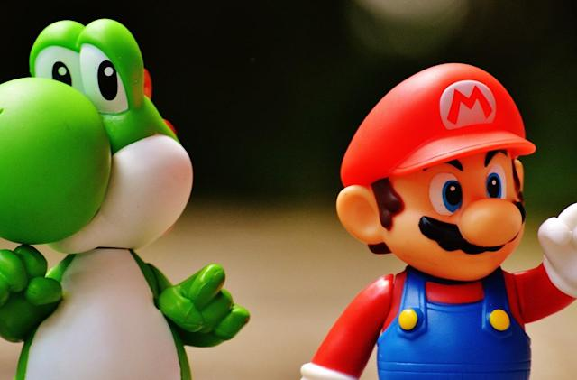 Yes, Mario was punching Yoshi in the head