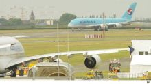 World's biggest airliner loses wingtip to a building in Paris airport