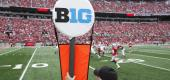 A general view of the Big Ten logo on a yard marker during a game between Ohio State and Rutgers at Ohio Stadium. (Joe Robbins/Getty Images)