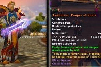 Atiesh spawns legendary Andonisus, Reaper of Souls