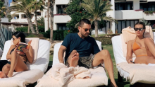Kourtney Kardashian is vacationing with ex Scott Disick and his 20-year-old girlfriend, Sofia Richie