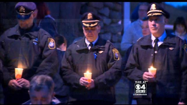 Motorcycle Officer Mourned At Plymouth Vigil