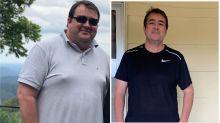 Aussie dad's insane 44kg coronavirus lockdown transformation