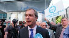 Nigel Farage denies cowering from milkshake-wielding protestors, insisting he was giving interviews on bus