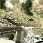 Dramatic Footage Captures Landslide That Collapsed Bridge, Killed Nine In India