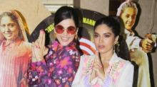 Pics: Taapsee & Bhumi Take Aim at 'Saand Ki Aankh' Trailer Launch